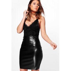 Boohoo Faux Leather Mini Skirt